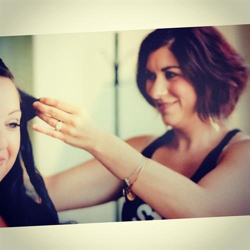 Hairstylist Marie @ Fuzion Fitness & Style.