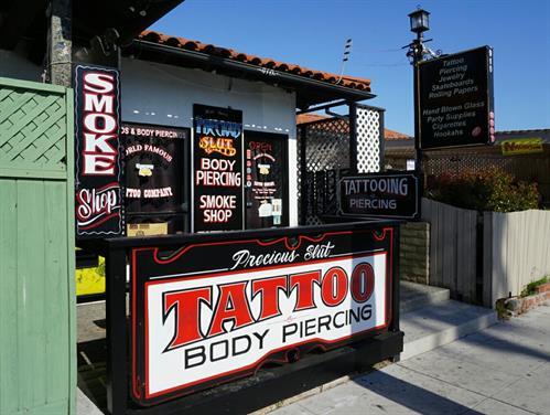 Precious Slut Tattoo Isla Vista  * TATTOOING & PIERCING is now open!
