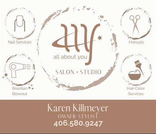 All About You Salon and Studio  (I will be moving to Gildhouse Suites April 2020)